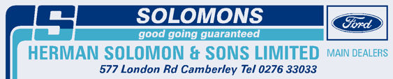 Solomons of camberley ford 250x50