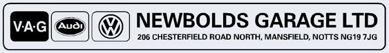 Newbolds garage mansfield nottingham vw audi 290x40