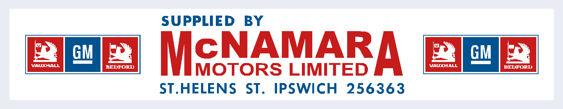 Macnamara motors ipswich vauxhall 310x60