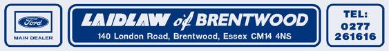 Laidlaw of Brentwood - Essex - Ford - Dealer Sticker