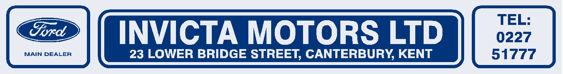 Invicta motors cantebury kent ford 290x38
