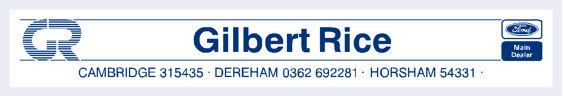 Gilbert rice cambridge dereham horsham ford 290x50