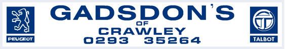 Gadsdons crawley peugeot talbot 260x45