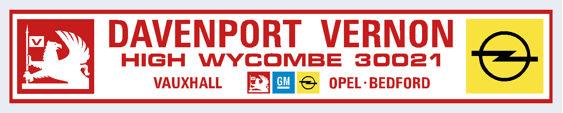 Davenport vernon high wycombe vauxhall opel 205x40