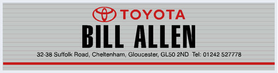 Bill Allen - Gloucester - Toyota - Dealer Sticker