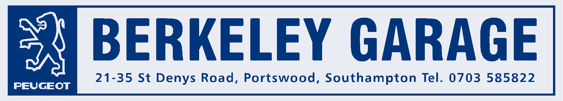 Berkeley Garage - Southampton - Peugeot - Dealer Sticker