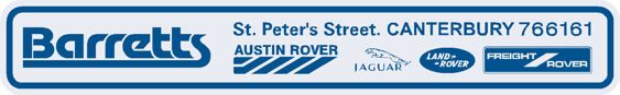 Barretts - Canterbury - Austin Rover - Dealer Sticker