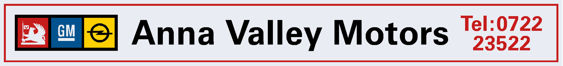 Anna Valley Motors - Vauxhall - Dealer Sticker