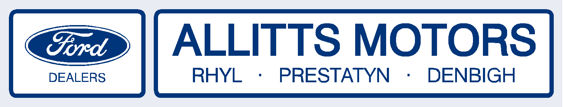 Allitts Motors - Rhyl Prestatyn Denbigh - Ford - Dealer Sticker