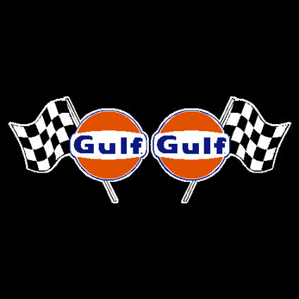 Gulf oil with flag vintage 150mm