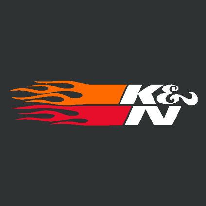 K & N Flames Decal