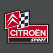 Citroen sport decal with flag