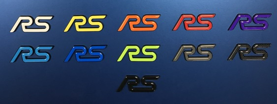 RS Replacement Black Badges with GEL Inlay