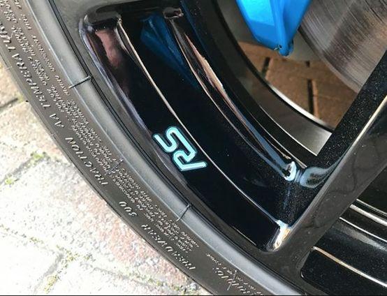 Focus rs forged wheel badge ocean 2