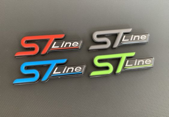 ST Line Perspex Badge with Gel Inlay