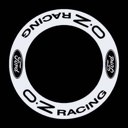 OZ Racing with Ford Logo Wheel Decals