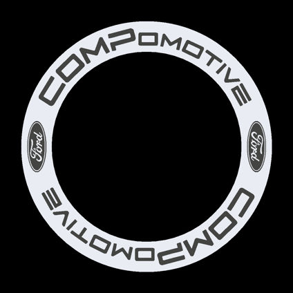 Compomotive Wheel Decals with Ford Logos - 2018 Edition