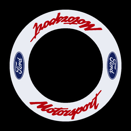 Ford Motorsport Wheel Decals - Blue/Red