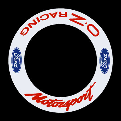Ford Motorsport - OZ Racing Wheel Decals - Blue/Red 1