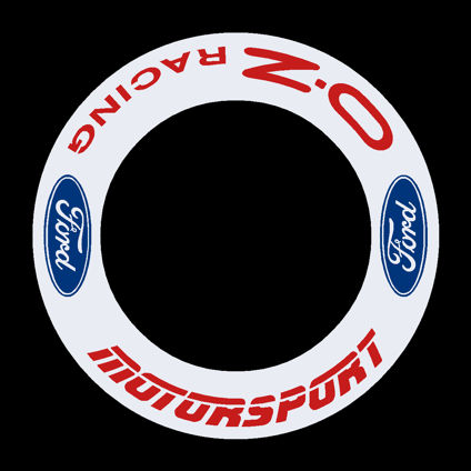 Ford Motorsport - OZ Racing Wheel Decals - Blue/Red 2