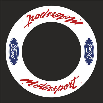 Ford Motorsport Wheel Decals 2 - Blue/Red