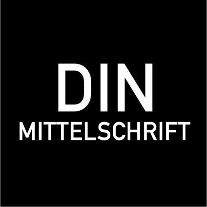 Custom Text - DIN Mittelschrift