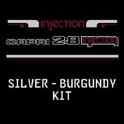 Silver/Burgundy