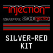 Silver/Red