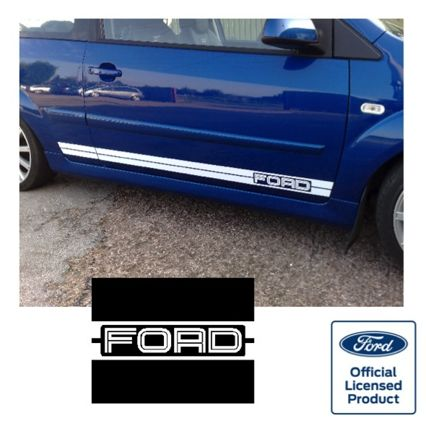Fiesta Mk6 Side Stripes - FORD Logo at FRONT