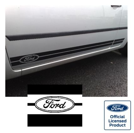 Fiesta Mk6 Side Stripes - FORD OVAL Logo at FRONT