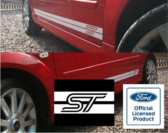 Fiesta Mk6 Side Stripes - ST Logo AS ORIGINAL