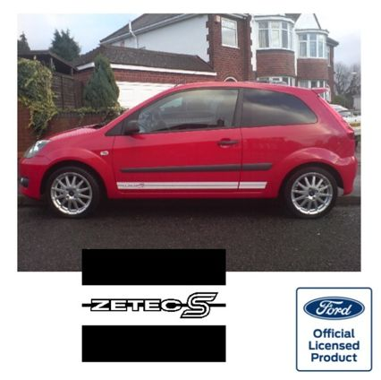 Fiesta Mk6 Side Stripes - Zetec S Logo at FRONT