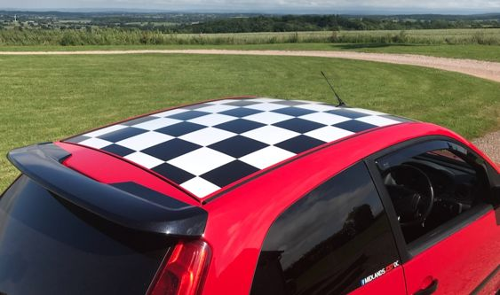 Fiesta Mk6 Zetec S Anniversary / Celebration Chequered Roof Kit