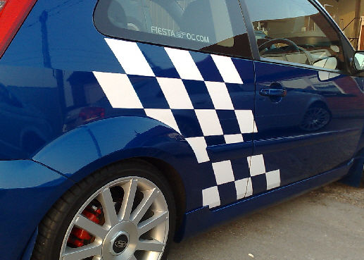Fiesta Mk6 Side Chequered Decal Kit