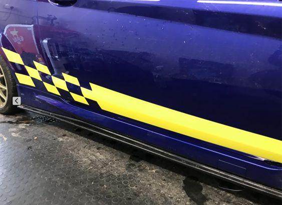 Fiesta Mk7 Chequer Side Stripes 3