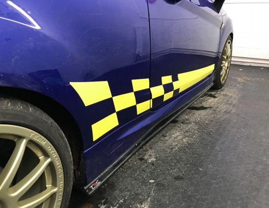 Fiesta Mk7 Chequer Side Stripes 4