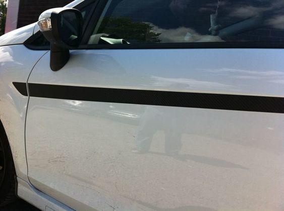 Fiesta Mk7 Solid Side Stripes