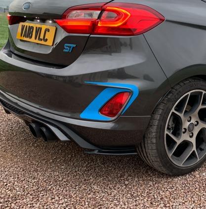 Fiesta Mk8 ST rear Accents