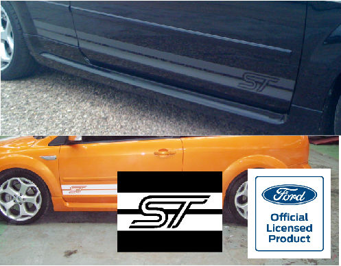 Focus Mk2 Lower Side Stripes - ST Logo