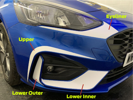 Focus Mk4 Body Accent Stripes - FRONT