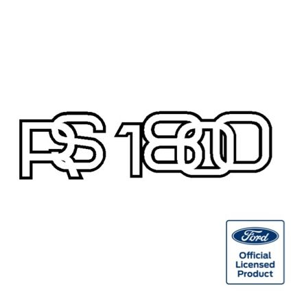 Escort Mk2 'RS1800' Bootlid Decal