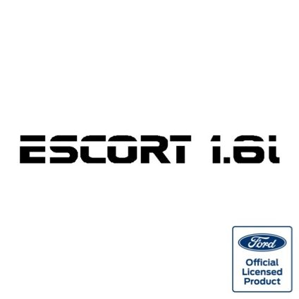 Escort Mk3 1.6i Boot Decal