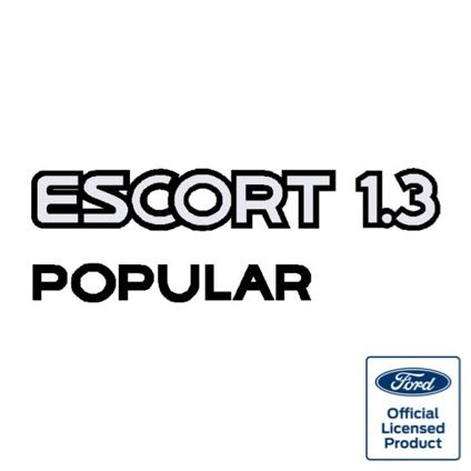 Escort Mk4 1.3 Popular Tailgate Decal
