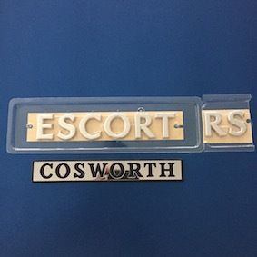 Escort RS Cosworth Tailgate Badge SET - Small Turbo