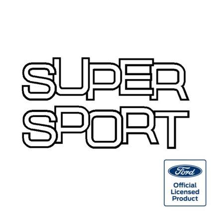 Fiesta Supersport Tailgate Decal