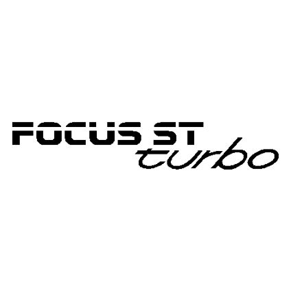 Focus ST Turbo Tailgate Decal