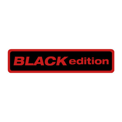 Black Edition Oblong Gel Badge