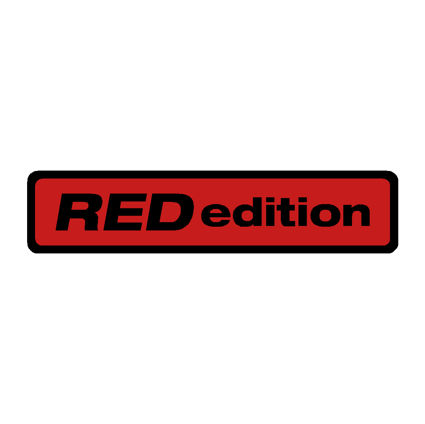 Red Edition Oblong Gel Badge