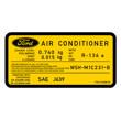Aircon Sticker YellowBlack 0 740kg