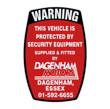 Dagenham Motors Security Sticker
